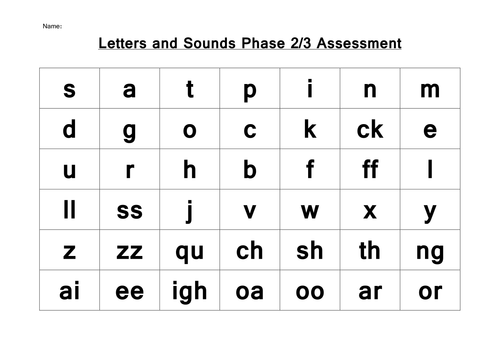 phonics letters and sounds phase 2 3 assessment by choralsongster teaching resources tes