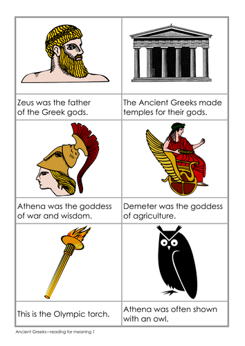 Reading for meaning - Ancient Greeks