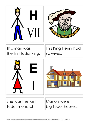 Reading for meaning - The Tudors