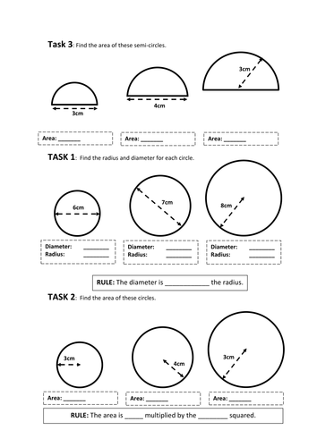 Circles - Revision Worksheets - KS3 by baconeducation - Teaching ...