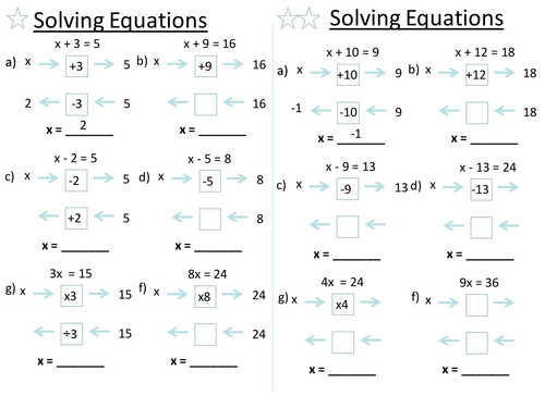 Solving Equations by baconeducation Teaching Resources TES – Solving Functions Worksheet