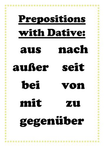 Set of German classroom grammar posters by msmfl