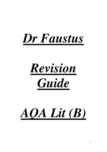 aqa lit b gothic dr faustus by richardwarren teaching  aqa lit b gothic dr faustus by richardwarren teaching resources tes
