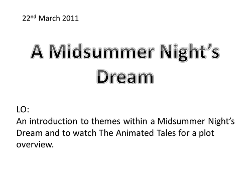 a midsummer night dream essay question A midsummer night's dream (1596) by peter cash merely a 'midsummer madness' informing each play is the idea that lovers fall short of plato's.