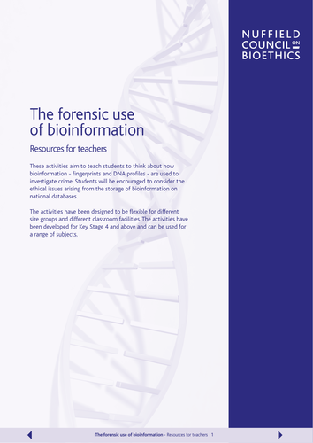 The forensic use of bioinformation (DNA database)