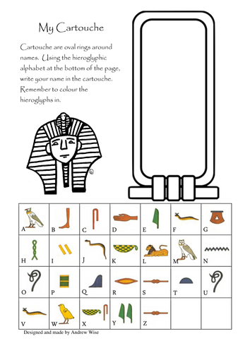 my cartouche egyptian writing by baamoooinkwoof teaching resources tes. Black Bedroom Furniture Sets. Home Design Ideas