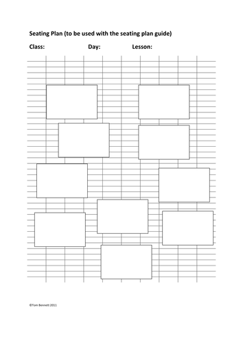 Seating Plans- advice and template