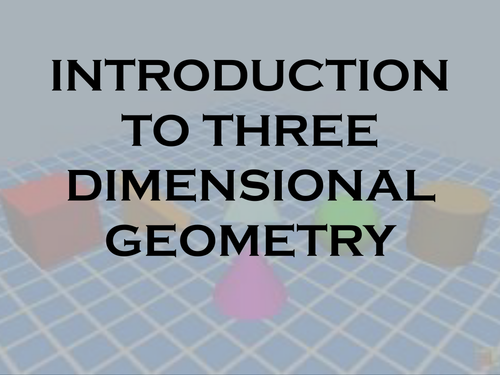 Basic Concepts  of  3D Geometry- powerpoint