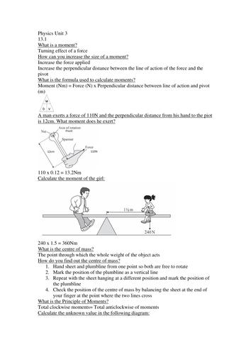 Physics Unit 3 GCSE