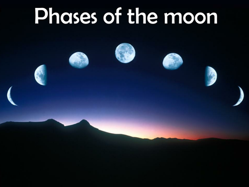 phases of the moon by brynmarshall teaching resources tes