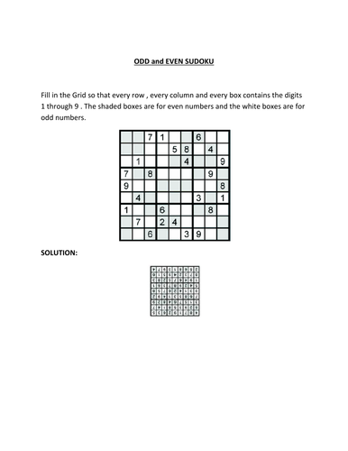 A different Sodoku