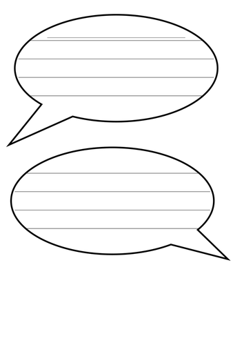 Line Art Ks1 : Speech bubbles with lines for writing by landoflearning