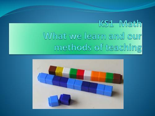 Methods of  teaching  Maths in KS1