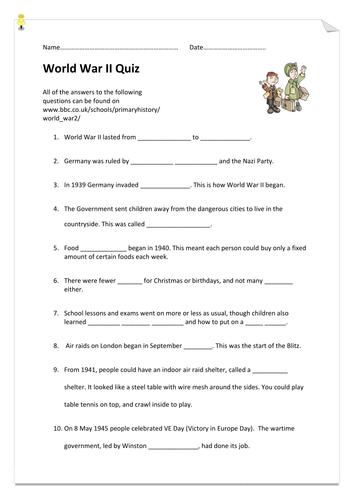 World War II Quiz