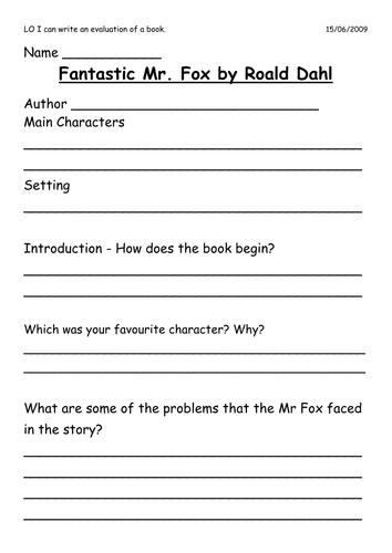 Fantastic Mr Fox - KS2 part 1 by Nat Schools Pship | Teaching Resources