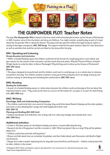 Gunpowder Plot topic activities & teaching ideas