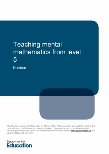 Maths KS3: Mental Maths- Measures and Mensuration by ...