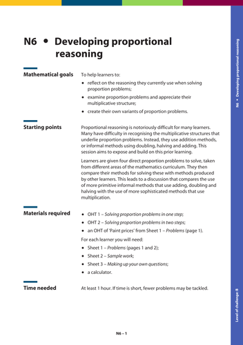 GSCE Maths: Developing proportional reasoning by ...