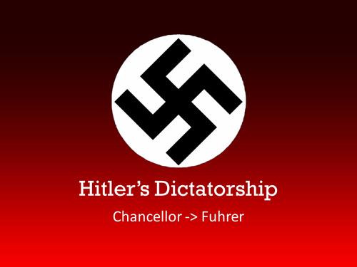 Hitler's Dictatorship - Chancellor -> Fuhrer