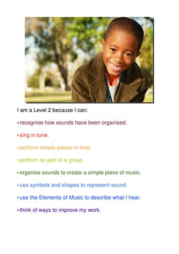 Child Friendly Level Descriptor Posters