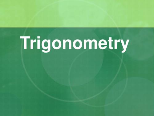 GCSE Maths: Trigonomtery lesson plan