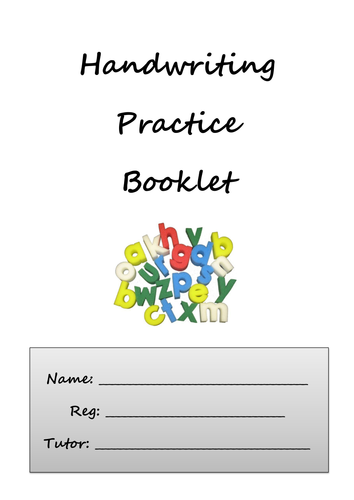 handwriting practice booklet by carwyn davies teaching resources tes. Black Bedroom Furniture Sets. Home Design Ideas
