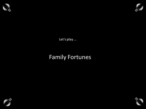 Family Fortunes - sanitation and poor water