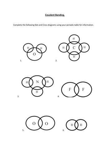 Covalent bonding task worksheet and exam questions by ...