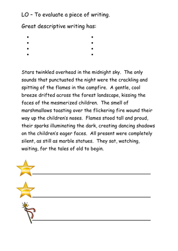 story opening ppt and activities by cbabf teaching resources tes descriptive writing extracts up levelling
