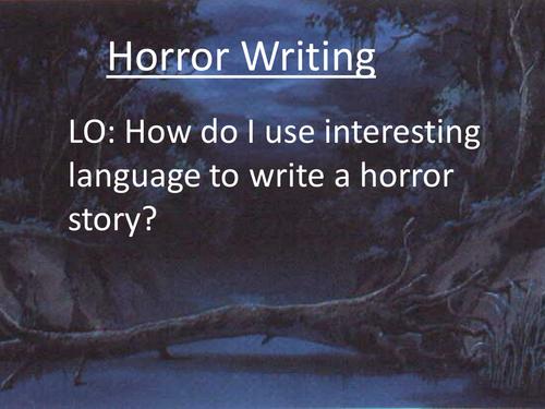 creative writing  horror storychildrm  teaching