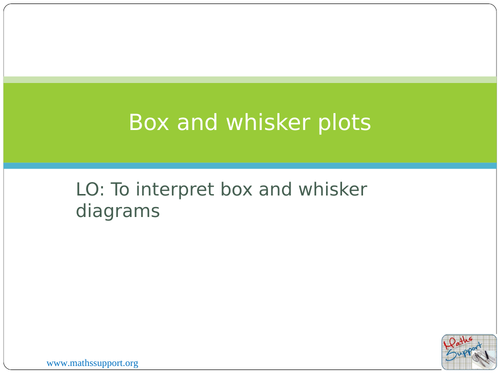 Statistical diagrams  Box and whisker plots  by oralhurt