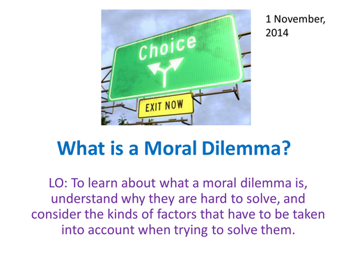 Moral choices and dilemmas by craigprestidge | Teaching Resources