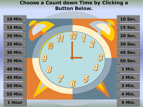 Powerpoint Timer by olanray | Teaching Resources