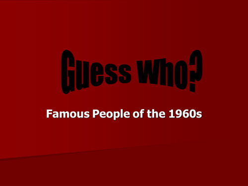 Swinging Sixties: Guess Who