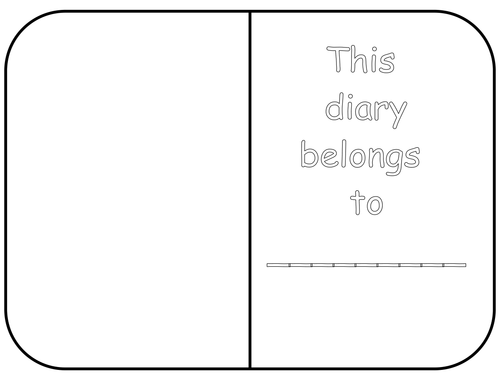 Diary template by white lilly2 teaching resources tes for Diary writing template ks1