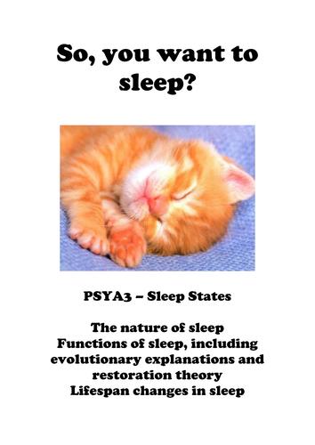 PSYA3 Sleep states resource booklet