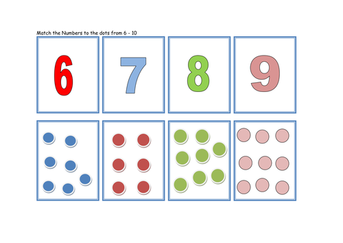 Matching Dots And Numbers To 10 Game By Traffordteach