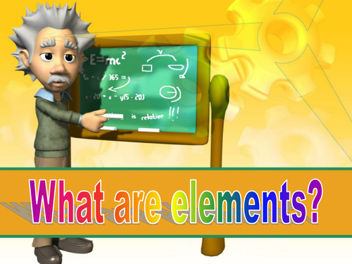 Introductory lesson to elements and compounds