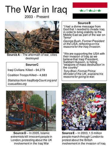 War in Iraq - Source Based Activities