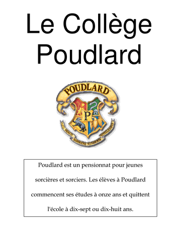 Hogwarts brochure - in French