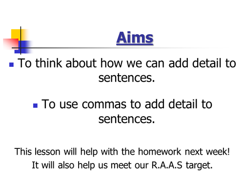 Use of Commas for Clauses by jbdevon - Teaching Resources - TES