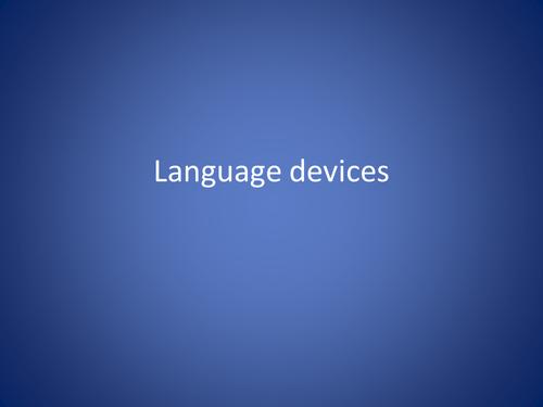 The basics of language devices