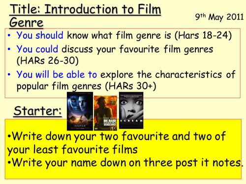 Film Genre lesson