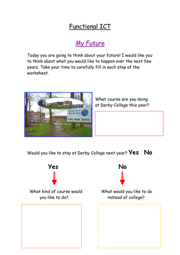 My Future by karenstraw | Teaching Resources