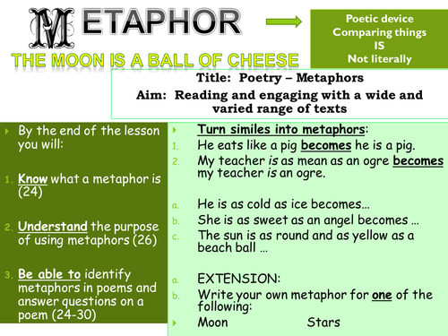 Metaphors By Leandri Lotter Teaching Resources Tes