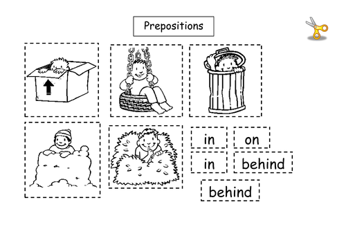 Prepositions worksheet by lbrowne Teaching Resources Tes – Kindergarten Preposition Worksheets