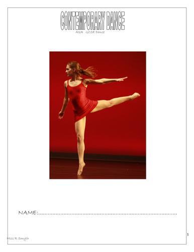 GCSE Dance work booklet