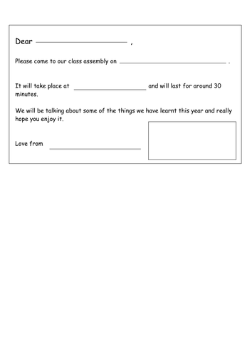 Class assembly invitation template by landoflearning teaching class assembly invitation template by landoflearning teaching resources tes stopboris Images