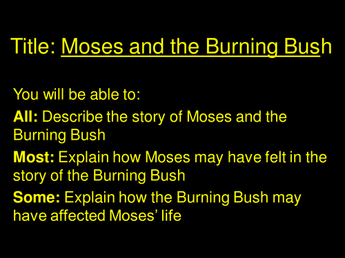 Moses And The Burning Bush By Jmwjmw
