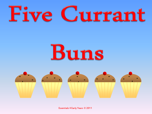 5 Currant Buns - Interactive Whiteboard Resource